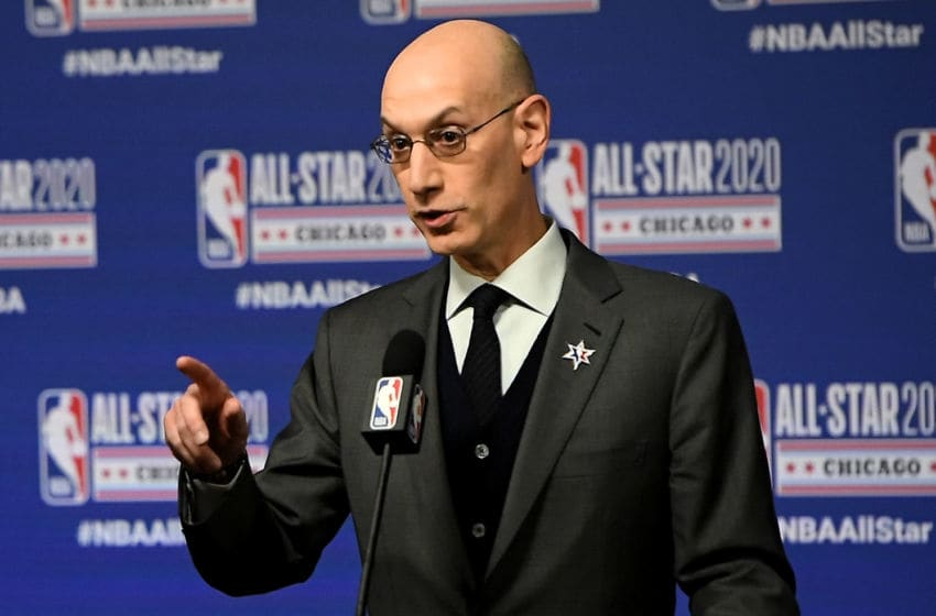 NBA Commissioner Adam Silver. (Photo by Stacy Revere/Getty Images)