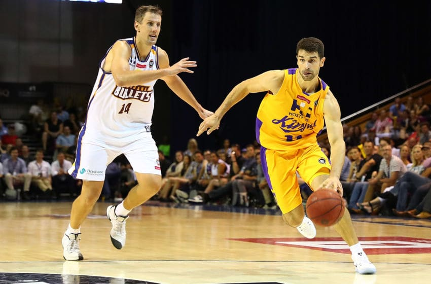 BRISBANE, AUSTRALIA - JANUARY 27: Kevin Lisch of the Kings in action during the round 17 NBL match between the Brisbane Bullets and the Sydney Kings at the Brisbane Convention