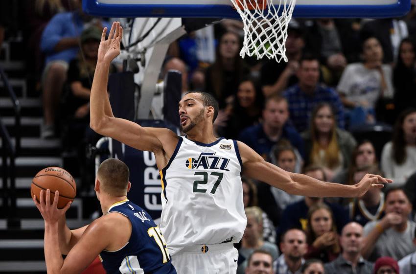 Rudy Gobert, Utah Jazz. Nikola Jokic, Denver Nuggets. (Photo by Gene Sweeney Jr./Getty Images)