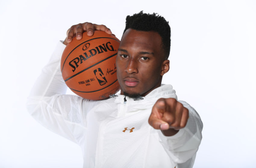 CHICAGO, IL - MAY 15: NBA Draft Prospect, Josh Okogie poses for a portrait during the 2018 NBA Combine circuit on May 15, 2018 at the Intercontinental Hotel Magnificent Mile in Chicago, Illinois. NOTE TO USER: User expressly acknowledges and agrees that, by downloading and/or using this photograph, user is consenting to the terms and conditions of the Getty Images License Agreement. Mandatory Copyright Notice: Copyright 2018 NBAE (Photo by Joe Murphy/NBAE via Getty Images)