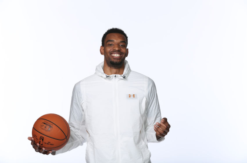 CHICAGO, IL - MAY 15: NBA Draft Prospect, Keita Bates-Diop poses for a portrait during the 2018 NBA Combine circuit on May 15, 2018 at the Intercontinental Hotel Magnificent Mile in Chicago, Illinois. NOTE TO USER: User expressly acknowledges and agrees that, by downloading and/or using this photograph, user is consenting to the terms and conditions of the Getty Images License Agreement. Mandatory Copyright Notice: Copyright 2018 NBAE (Photo by Joe Murphy/NBAE via Getty Images)