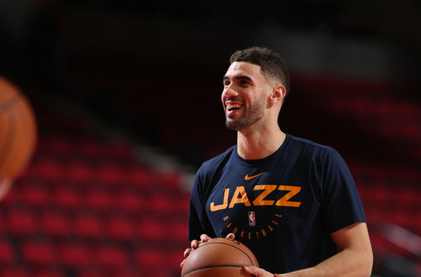 PORTLAND, OR - JANUARY 30: Georges Niang #31 of the Utah Jazz smiles before the game against the Portland Trail Blazers on January 30, 2019 at the Moda Center Arena in Portland, Oregon. Copyright 2019 NBAE (Photo by Sam Forencich/NBAE via Getty Images)