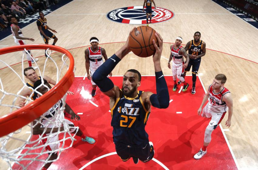 Rudy Gobert, Utah Jazz. Copyright 2020 NBAE (Photo by Ned Dishman/NBAE via Getty Images)