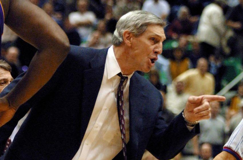Jerry Sloan, Utah Jazz. (Photo by GEORGE FREY/AFP via Getty Images)