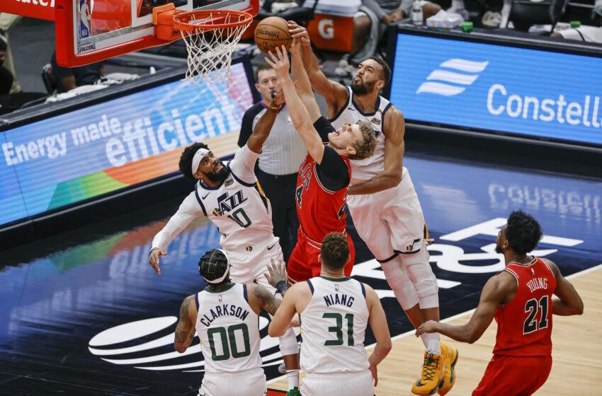 Lauri Markkanen vs Utah Jazz (Kamil Krzaczynski-USA TODAY Sports)