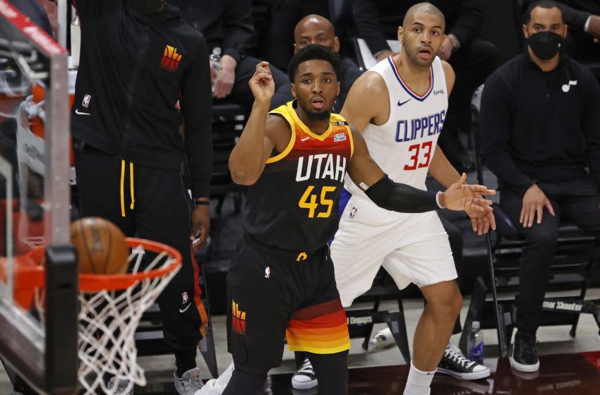 Utah Jazz guard Donovan Mitchell (Jeffrey Swinger-USA TODAY Sports)