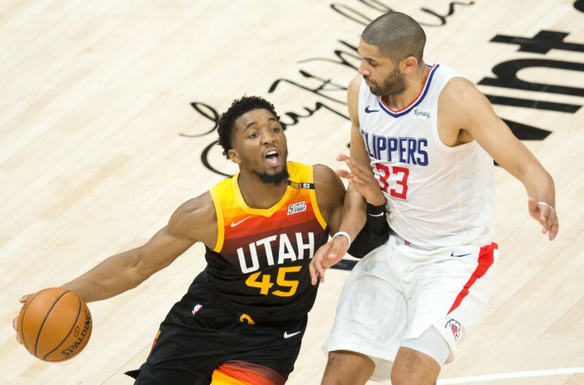 Utah Jazz guard Donovan Mitchell (Russell Isabella-USA TODAY Sports)