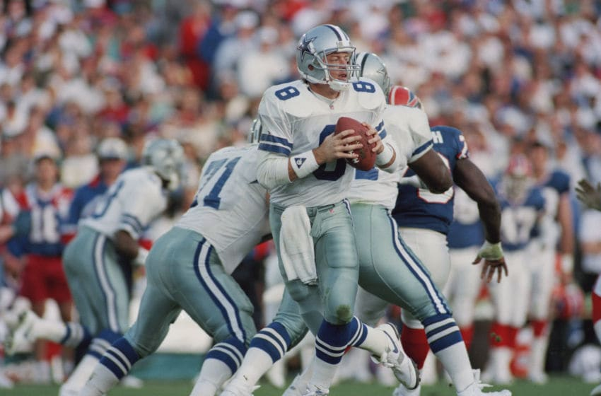 Troy Aikman, Dallas Cowboys. (Photo by Rick Stewart/Allsport/Getty Images)