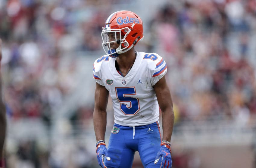 TALLAHASSEE, FL - NOVEMBER 24: Cornerback CJ Henderson #5 of the Florida Gators in action during the game against the Florida State Seminoles at Doak Campbell Stadium on Bobby Bowden Field on November 24, 2018 in Tallahassee, Florida. The #11 Ranked Florida Gators defeated the Florida State Seminoles 41 to 14. (Photo by Don Juan Moore/Getty Images)