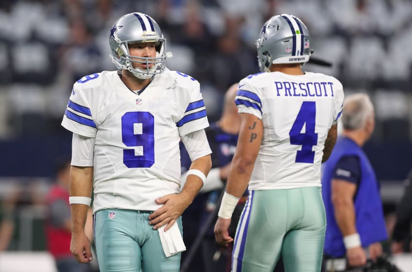 Tony Romo, Dak Prescott, Dallas Cowboys (Photo by Tom Pennington/Getty Images)