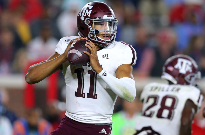 Kellen Mond #11 of the Texas A&M Aggies (Photo by Jonathan Bachman/Getty Images)