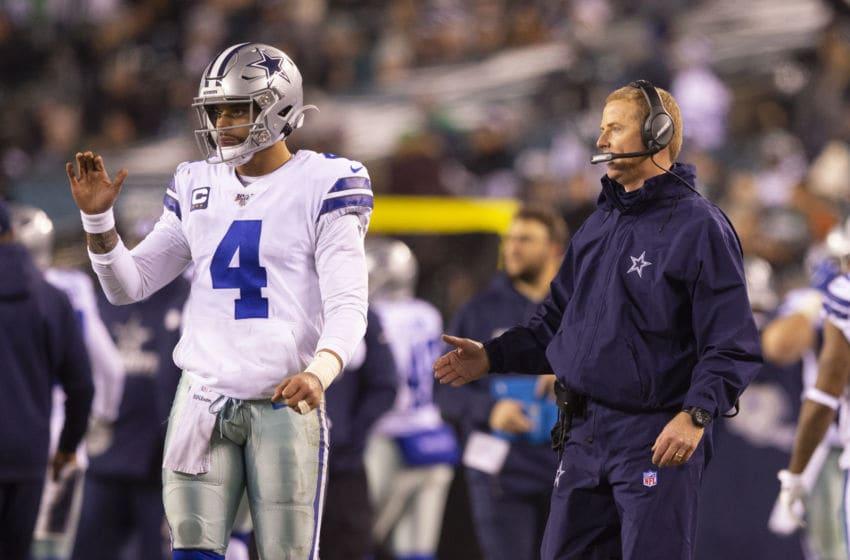 Dak Prescott and Jason Garrett, Dallas Cowboys (Photo by Mitchell Leff/Getty Images)