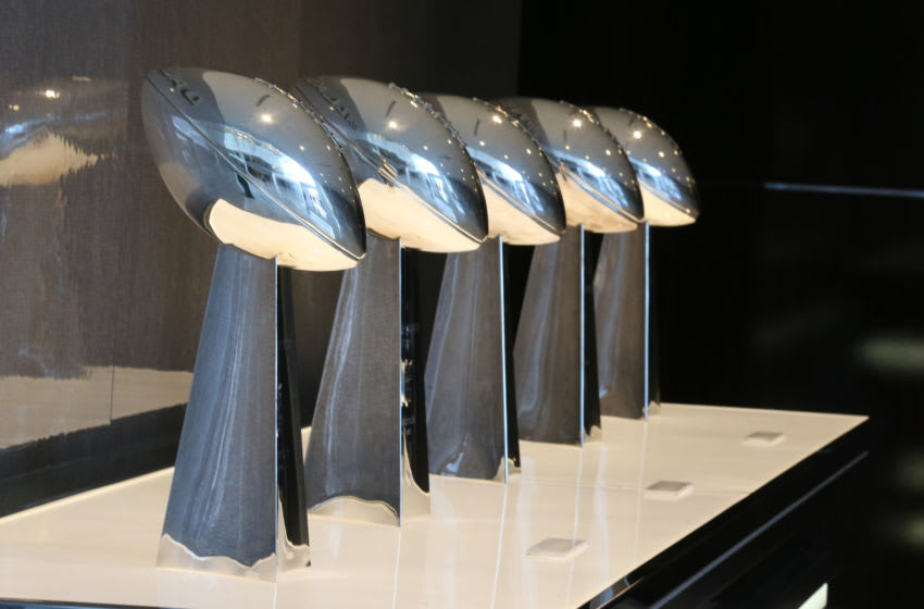 Dallas Cowboys Super Bowl Trophy Mandatory Credit: Matthew Emmons-USA TODAY Sports