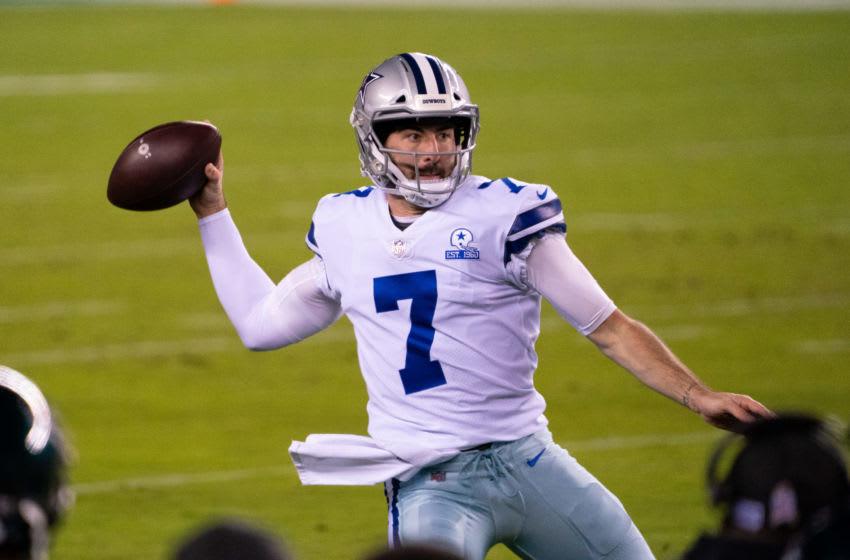 Ben DiNucci, Dallas Cowboys. Mandatory Credit: Bill Streicher-USA TODAY Sports