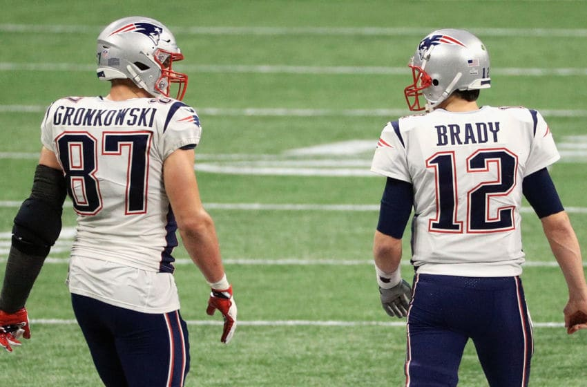 Rob Gronkowski and Tom Brady, Tampa Bay Buccaneers (Photo by Mike Ehrmann/Getty Images)