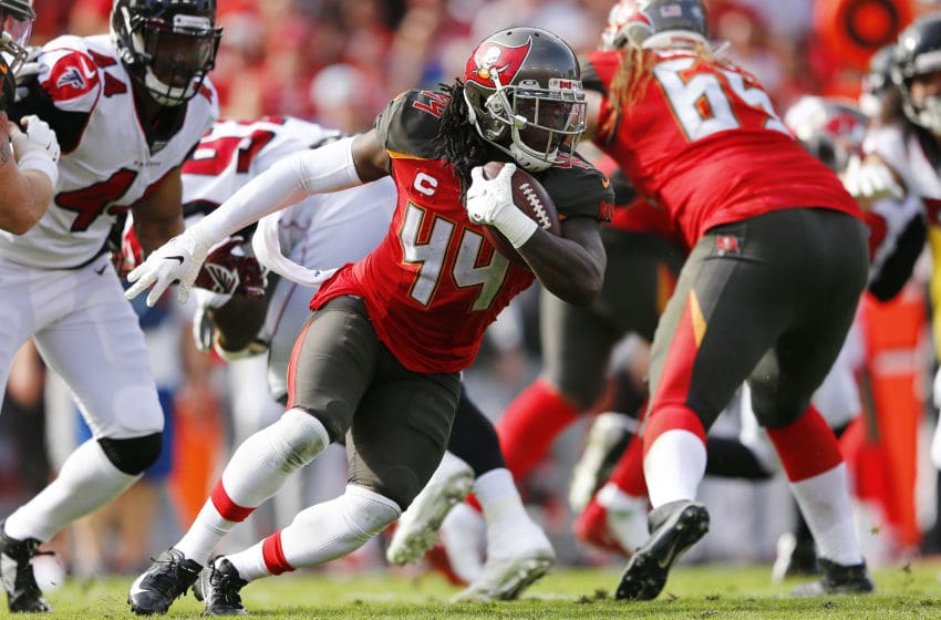Dare Ogunbowale, Tampa Bay Buccaneers, (Photo by Michael Reaves/Getty Images)