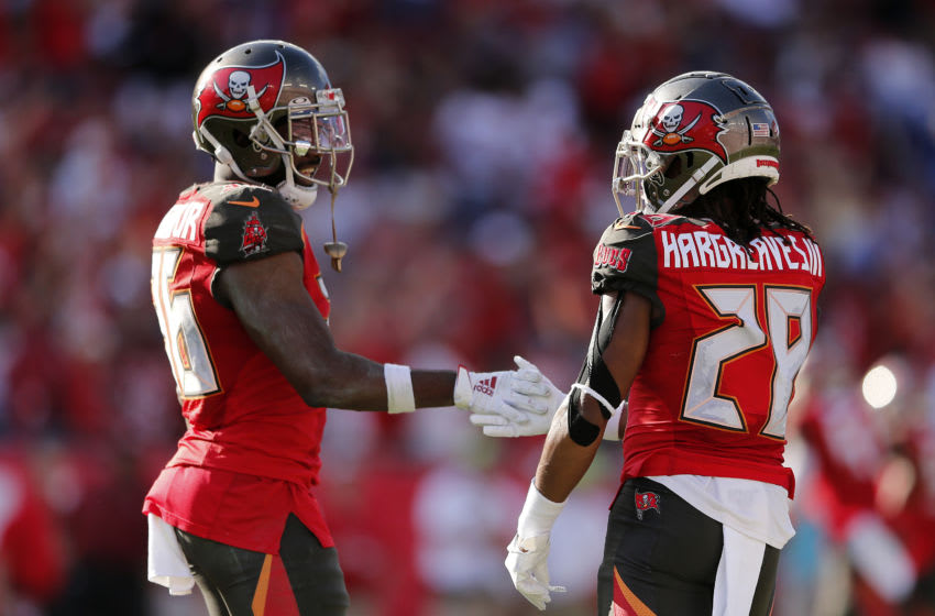 M.J. Stewart, Tampa Bay Buccaneers, Vernon III Hargreaves, (Photo by Michael Reaves/Getty Images)