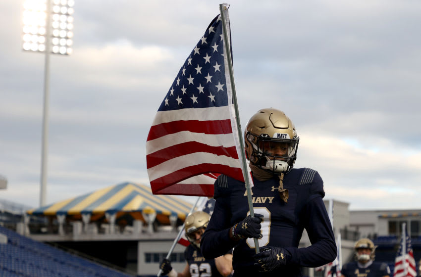 Cameron Kinley, Navy Midshipmen, and Tampa Bay Buccaneers (Photo by Rob Carr/Getty Images)
