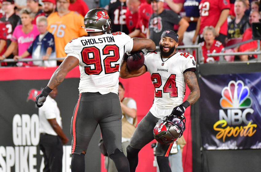 Carlton Davis, William Gholston, Tampa Bay Buccaneers (Photo by Julio Aguilar/Getty Images)