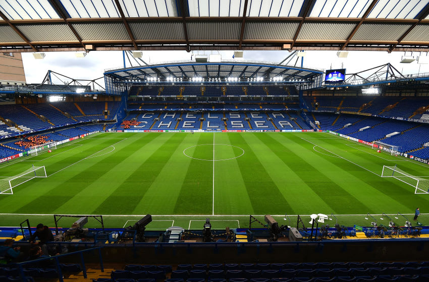 LONDON, ENGLAND - MARCH 09: A general view of the stadium prior to the UEFA Champions League round of 16 second leg match between Chelsea FC and Paris Saint-Germain at Stamford Bridge on March 9, 2016 in London, United Kingdom. (Photo by Tom Dulat - UEFA/UEFA via Getty Images).