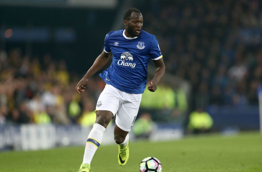 LIVERPOOL, ENGLAND - MAY 12: Romelu Lukaku of Everton during the Premier League match between Everton and Watford at Goodison Park on May 12, 2017 in Liverpool, England. (Photo by James Baylis - AMA/Getty Images)