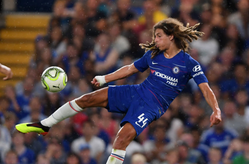 LONDON, ENGLAND - AUGUST 07: Ethan Ampadu of Chelsea in action during the pre-season friendly match between Chelsea and Lyon at Stamford Bridge on August 7, 2018 in London, England. (Photo by Mike Hewitt/Getty Images)