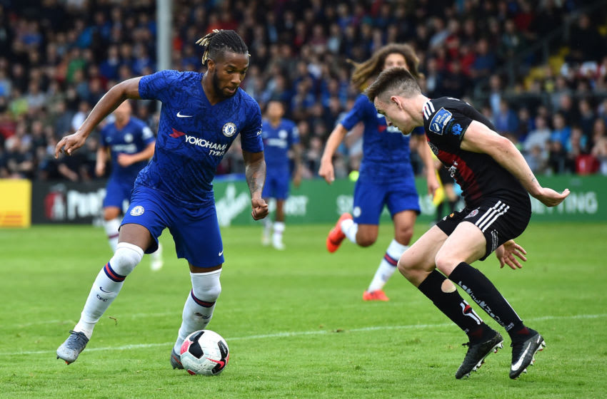 DUBLIN, IRELAND - JULY 10: Kasey Palmer of Chelsea runs with the ball during the Pre-Season Friendly match between Bohemians FC and Chelsea FC at Dalymount Park on July 10, 2019 in Dublin, Ireland. (Photo by Charles McQuillan/Getty Images)
