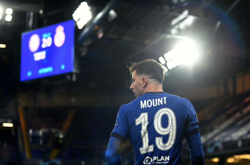 Chelsea's English midfielder Mason Mount leaves the pitch after being substituted off during the UEFA Champions League second leg semi-final football match between Chelsea and Real Madrid at Stamford Bridge in London on May 5, 2021. - Chelsea won the match 2-0. (Photo by Glyn KIRK / AFP) (Photo by GLYN KIRK/AFP via Getty Images)