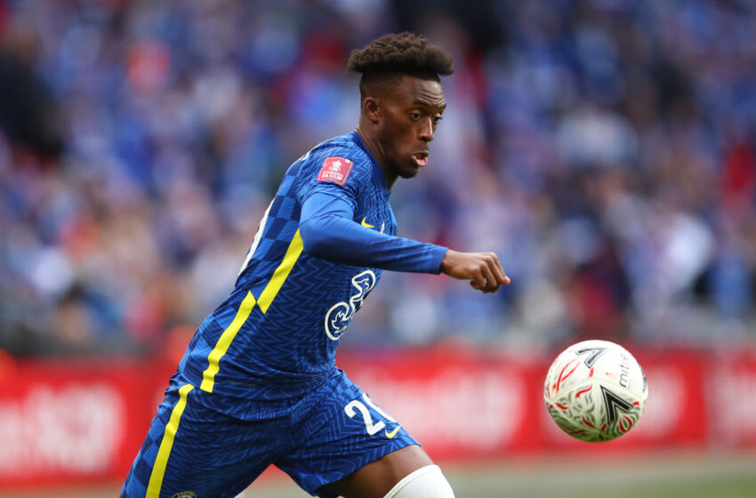 LONDON, ENGLAND - MAY 15: Callum Hudson-Odoi of Chelsea during The Emirates FA Cup Final match between Chelsea and Leicester City at Wembley Stadium on May 15, 2021 in London, England. (Photo by Marc Atkins/Getty Images)