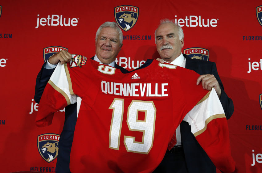 SUNRISE, FL - APRIL 8: Joel Quenneville is named Florida Panthers Head Coach. Florida Panthers President of Hockey Operations & General Manager Dale Tallon announced today that the team has named Joel Quenneville as head coach of the Panthers. At the BB&T Center on April 8 2019 in Sunrise, Florida. (Photo by Eliot J. Schechter/NHLI via Getty Images)