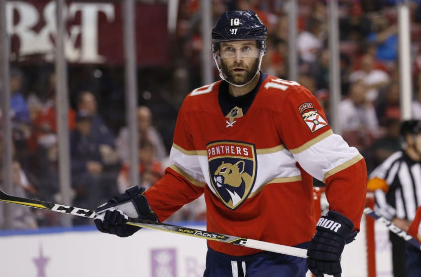 SUNRISE, FLORIDA - NOVEMBER 14: Brett Connolly #10 of the Florida Panthers in action against the Winnipeg Jets during the second period at BB&T Center on November 14, 2019 in Sunrise, Florida. (Photo by Michael Reaves/Getty Images)