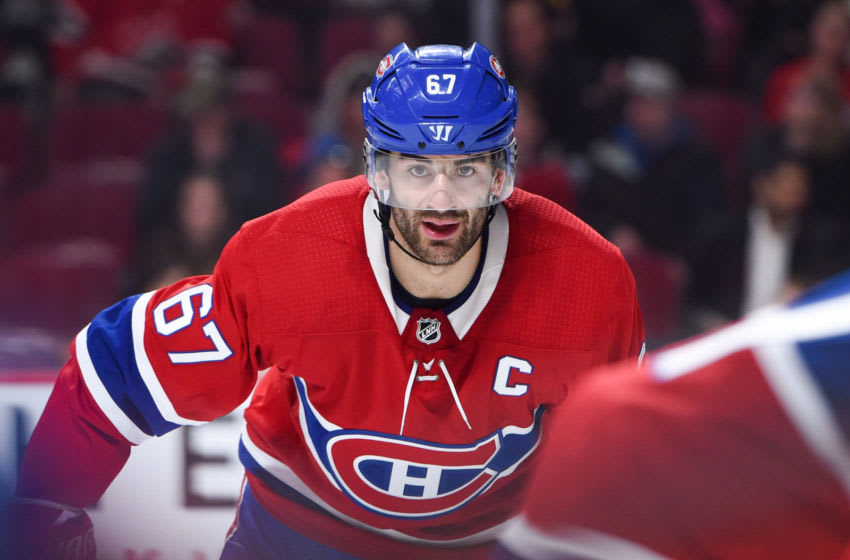 MONTREAL, QC - FEBRUARY 22: Look on Montreal Canadiens Left Wing Max Pacioretty (67) during the New York Rangers versus the Montreal Canadiens game on February 22, 2018, at Bell Centre in Montreal, QC (Photo by David Kirouac/Icon Sportswire via Getty Images)