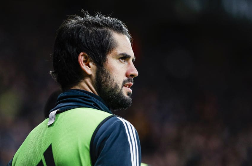 Real Madrid CF midfielder Isco (22) during the match RCD Espanyol against Real Madrid CF, for the round 21 of the Liga Santander, played at RCD Espanyol Stadium on 27th January 2018 in Barcelona, Spain. (Credit: Mikel Trigueros/Urbanandsport / NurPhoto via Getty Images) -- (Photo by Urbanandsport/NurPhoto via Getty Images)