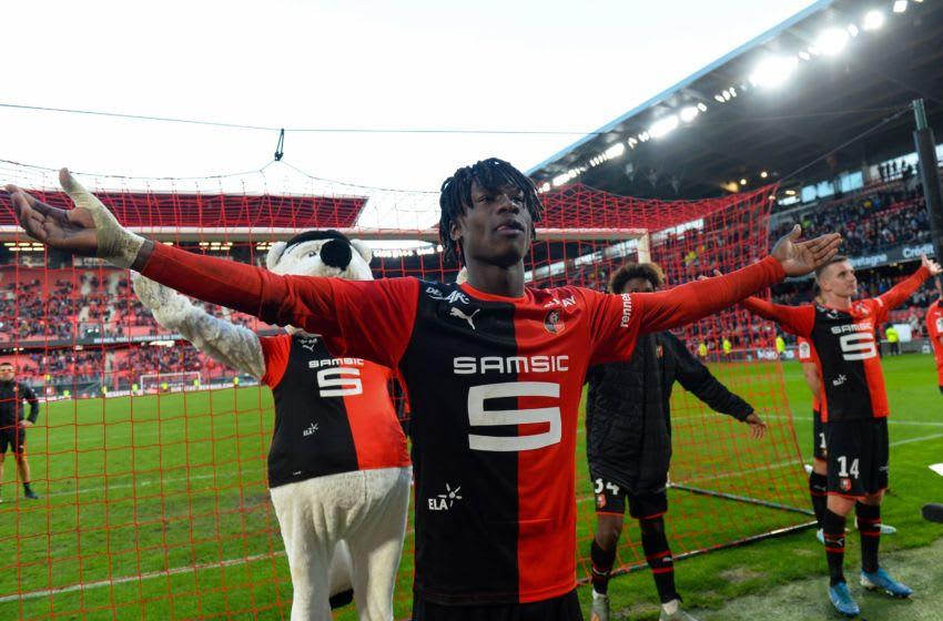 Rennes' French midfielder Eduardo Camavinga (Photo by JEAN-FRANCOIS MONIER/AFP via Getty Images)