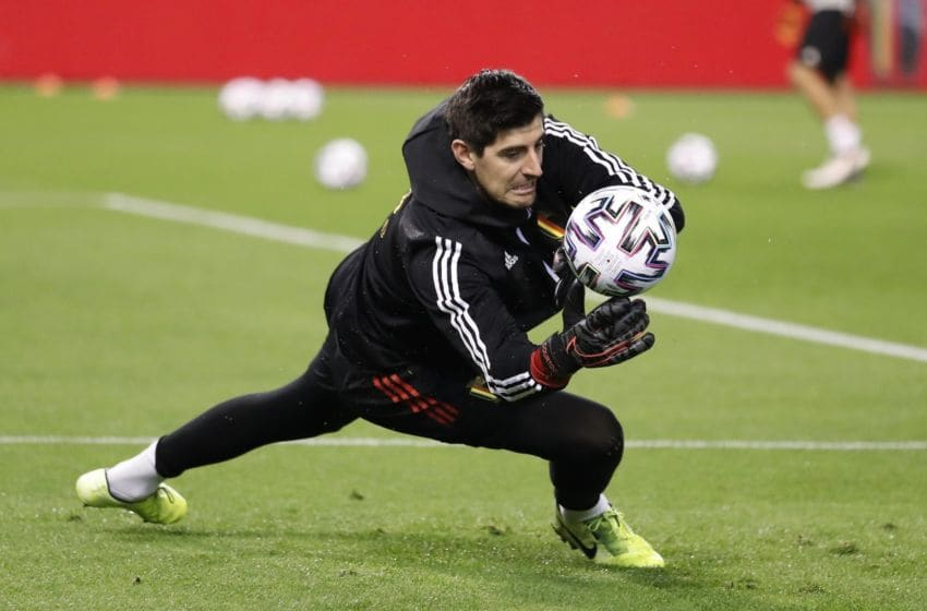 BRUSSELS, BELGIUM - NOVEMBER 19 : Thibaut Courtois goalkeeper of Belgium during the Euro 2020 group I qualifying match Belgium against Cyprus on November 19, 2019 in Brussels, Belgium, 19/11/2019 ( Photo by Jimmy Bolcina / Photonews via Getty Images)