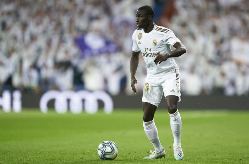 MADRID, SPAIN - NOVEMBER 02: Ferland Mendy of Real Madrid in action during the La Liga match between Real Madrid CF and Real Betis Balompie at Estadio Santiago Bernabeu on November 02, 2019 in Madrid, Spain. (Photo by Quality Sport Images/Getty Images)