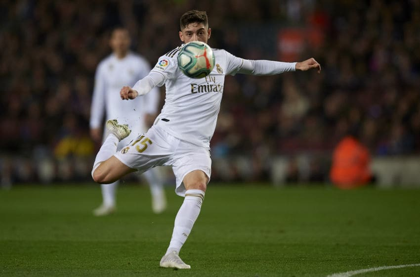 Federico Valverde of Real Madrid (Photo by Jose Breton/Pics Action/NurPhoto via Getty Images)