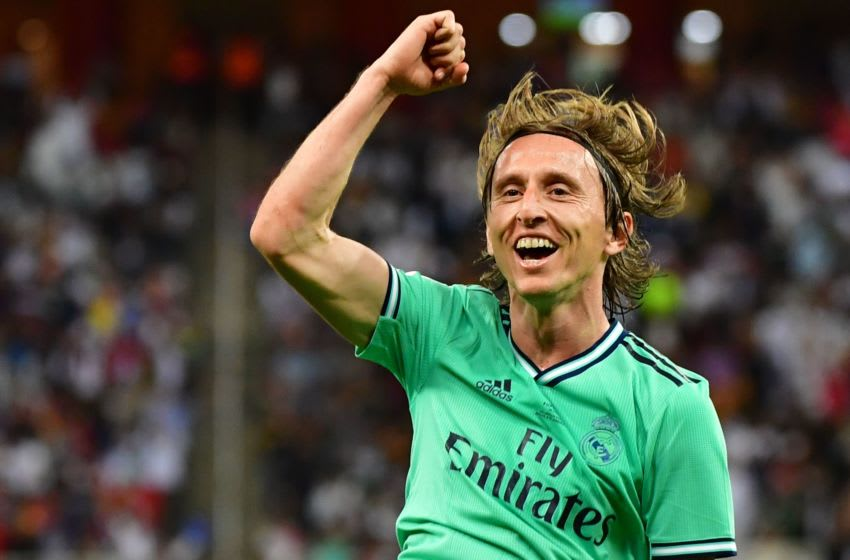 Real Madrid's Croatian midfielder Luka Modric (Photo by GIUSEPPE CACACE/AFP via Getty Images)