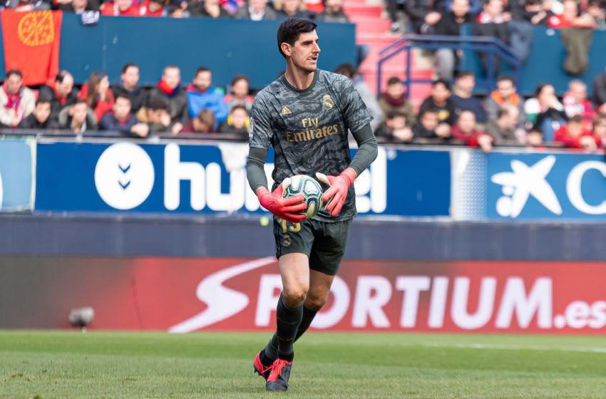 Thibaut Courtois of Real Madrid (Photo by Alejandro/DeFodi Images via Getty Images)