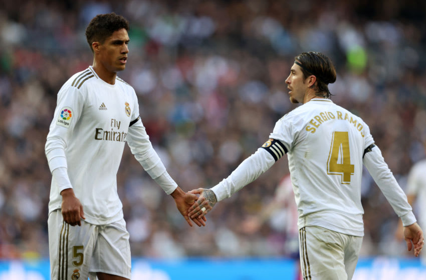 Raphael Varane and Sergio Ramos of Real Madrid (Photo by Angel Martinez/Getty Images)