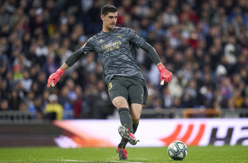 Thibaut Courtois of Real Madrid (Photo by Diego Souto/Quality Sport Images/Getty Images)