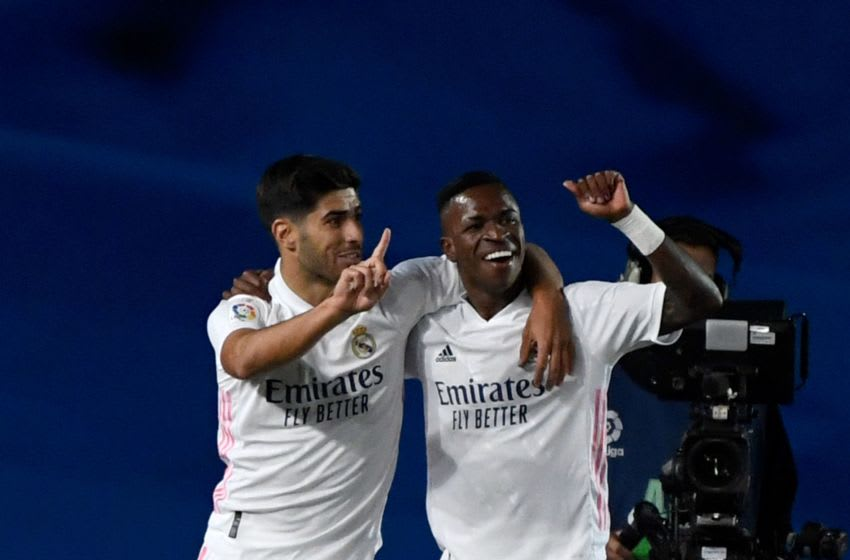 Real Madrid, Vinicius Junior, Marco Asensio (Photo by PIERRE-PHILIPPE MARCOU/AFP via Getty Images)