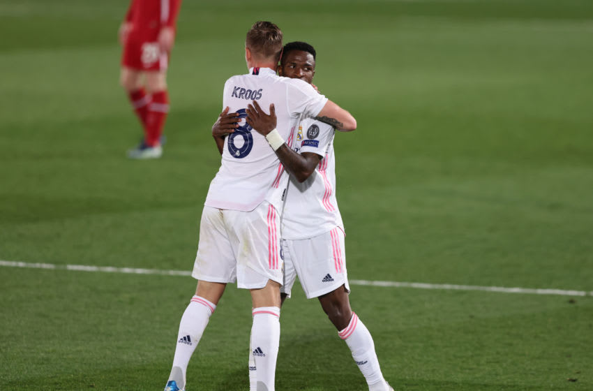 Real Madrid, Toni Kroos, Vinicius Junior (Photo by Angel Martinez/Getty Images)