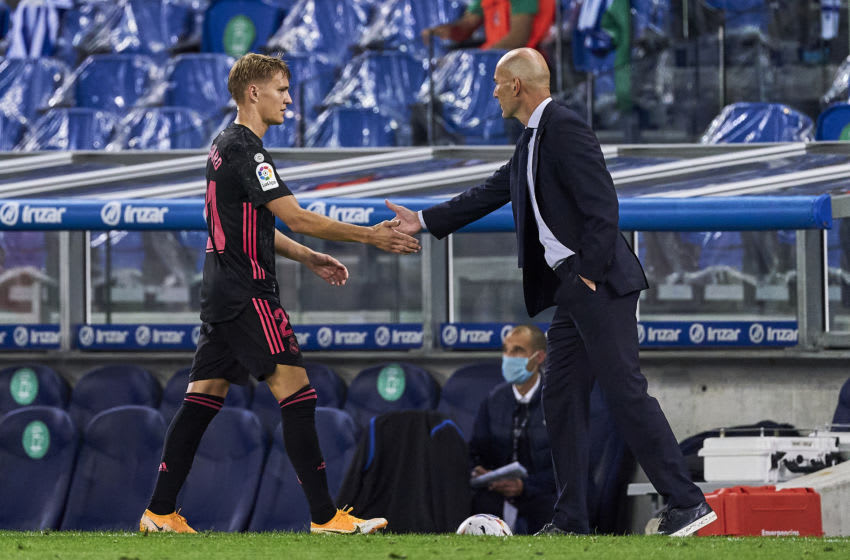Real Madrid, Zinedine Zidane, Martin Ødegaard (Photo by Diego Souto/Quality Sport Images/Getty Images)