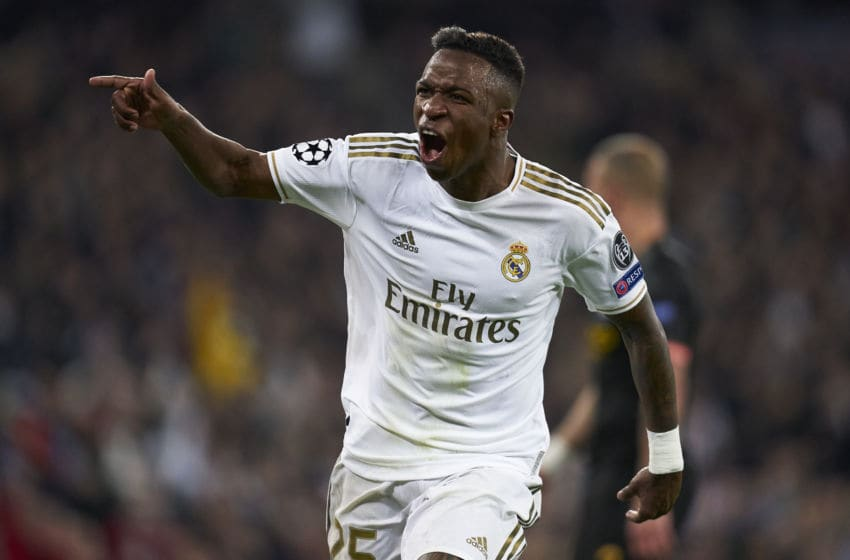 Vinicius Junior of Real Madrid (Photo by Diego Souto/Quality Sport Images/Getty Images)
