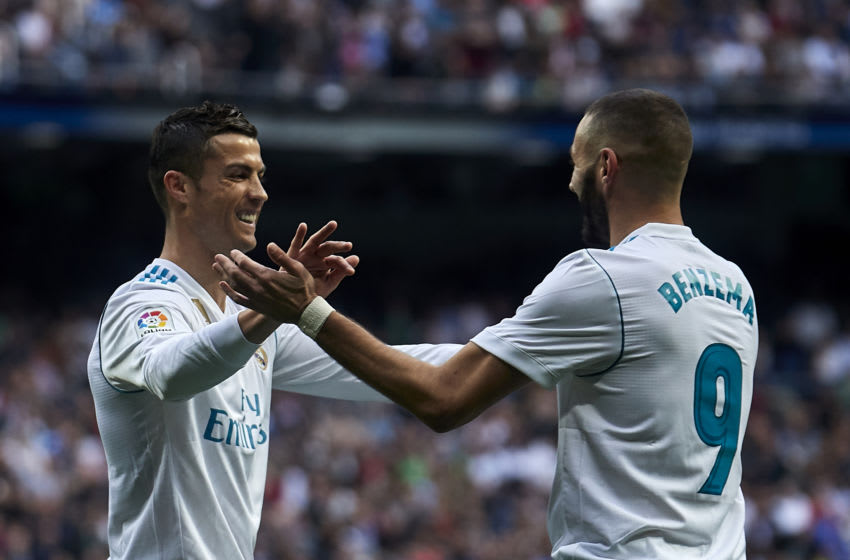 Real Madrid, Cristiano Ronaldo, Karim Benzema (Photo by Quality Sport Images/Getty Images)