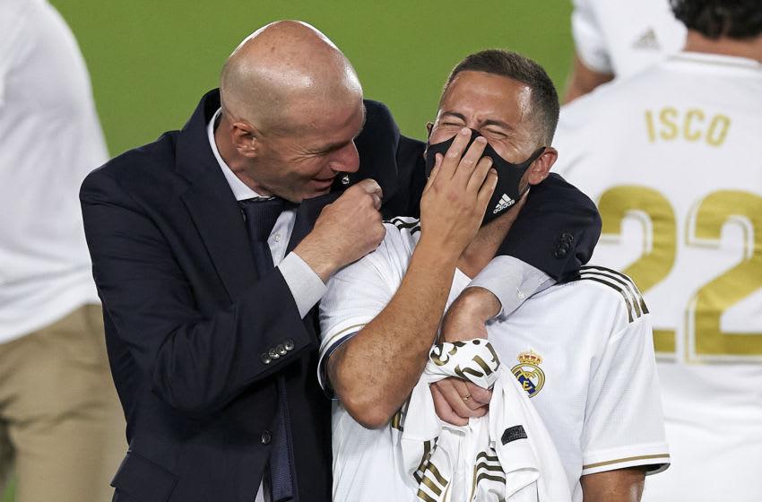 Real Madrid, Eden Hazard, Zinedine Zidane (Photo by Diego Souto/Quality Sport Images/Getty Images)