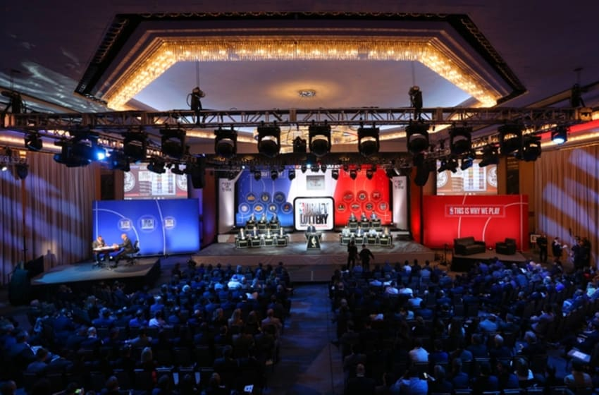 May 17, 2016; New York, NY, USA; General view during the NBA draft lottery at New York Hilton Midtown. The Philadelphia 76ers received the first overall pick in the 2016 draft. Mandatory Credit: Brad Penner-USA TODAY Sports