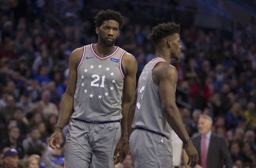 Joel Embiid & Jimmy Butler | Philadelphia 76ers (Photo by Mitchell Leff/Getty Images)
