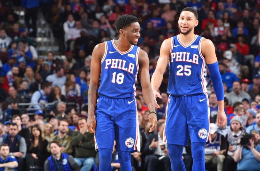 Philadelphia 76ers, Shake Milton and Ben Simmons (Photo by Jesse D. Garrabrant/NBAE via Getty Images)
